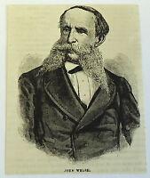 1882 magazine engraving ~ JOHN WELSH, Minister to England