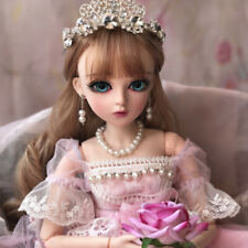 BJD Doll 1/3 Ball Jointed Girl With Clothes Wig Makeup Eyes Shoes Full Set Toys