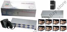 8way/Port SVGA/VGA Amplifier/Amp Duplicator/Multiplexer/Splitter PC/TV/Projector