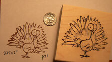 "Turkey rubber stamp  2.25x2"" Halloween Funny"