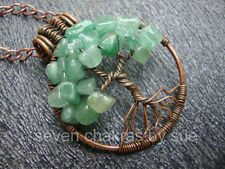 Feng Shui - Green Aventurine Tree of Life Necklace 1