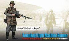 """Dragon 1/6 Scale 12"""" WWII German Light Machine Gunner Heinrich Sager 70851"""