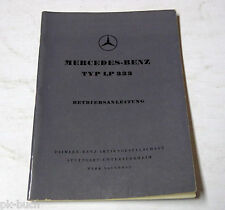 Betriebsanleitung Mercedes LKW LP 333 Stand 02-1959