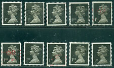 GREAT BRITAIN SG-1447, SCOTT # MH-183 MACHIN USED, 10 STAMPS, GREAT PRICE!