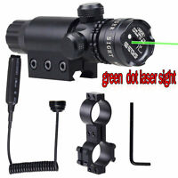 Tactical Green Laser Scope W/ Pressure Sight Dot Switch Picatinny Rail Mount USA