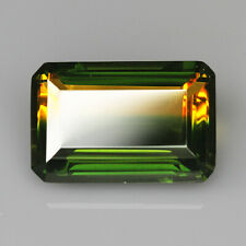 12Ct Man Made Bi Color Glass Yellow Green Oval Cut MQYG42