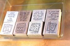 Quick & Cute~ Stampin Up! 2002, Set of 8 Stamps