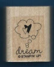 DREAM LOVE HEARTS Thought Bubble card gift tag Stampin' Up! wood Rubber Stamp