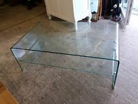 GLASS COFFEE TABLE (no3) DELIVERY AVAILABLE