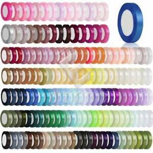 """1/4"""" 6mm 25 Yards Satin Ribbon Bows Craft Sewing Wedding Party Decor Lots RN0002"""
