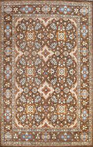 Vegetable Dye Peshawar-Chobi Floral Oriental Area Rug Handmade Wool Carpet 10x14