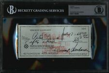 VINCE LOMBARDI Signed Check BAS Beckett Slabbed Autograph Green Bay Packers