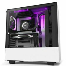 NZXT H510i White/Black Mid Tower w/Tempered Glass Window RGB Smart Control