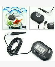 1Pc Lcd Digital Fish Tank Reptile Aquarium Water Meter Thermometer Temperature