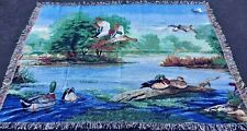 Morning Flight Pheasants, Ducks & Mallards Tapestry Afghan Throw ~ Linda Picken