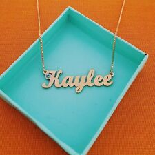 Real Gold Necklace  Pure 14k Gold jewelry  Name Personalized Jewellery any name!