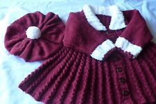 Baby Knitting Pattern. Giacca + Berretto Dk. Natale, Inverno Caldo Cardigan ragazza...