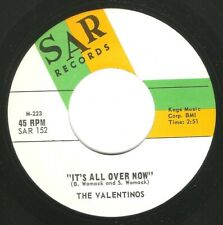 """Northern Soul R&B Mod 45 THE VALENTINOS """"It's All Over Now"""" SAR Rolling Stones"""