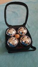 mini boules set metal set of 4 boules travel game