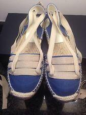 Ralph Lauren Espadrilles Navy Shoes Size UK 6-6.5 US 9 RRP 190 NEW