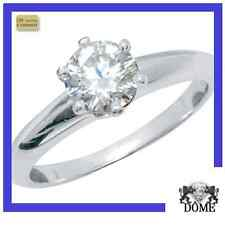 "♛""DREAM"" BAGUE SOLITAIRE DIAMANT OR BLANC 18K   0,50CT HSI3 1990E AUTHENTIQUE ♛"