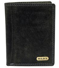 c2e29e0f9b77f Wild s Herrenbörse aus Leder Schwarz Lederbörse Ledergeldbörse Brieftasche  1599
