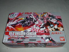New In Box Gundam Rx-0 Unicorn Destroy Mode Model Kit Bandai Titanium Hg Nib >