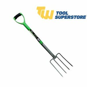 Garden Digging Fork Professional Heavy Duty Gardener Carbon Steel Farmer Builder
