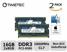 Timetec Hynix IC Apple 16GB (2x8GB) 1066 MHz PC3-8500 204-Pin DDR3 Memory Kit