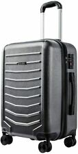 CarryOne Expandable Luggage 21 Inch Carry on Luggage Travel Suitcase with 8 Sile