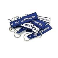 Lufthansa Crew Baggage Keychains x2