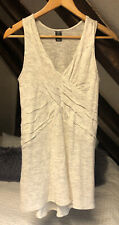 Anthropologie AStars, Knitted Top, Beige, Pleated Detail, Size Small / 8-10