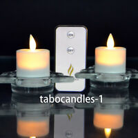 Luminara Moving Wick Tea Light, Battery Operated Led Candle with Remote 2PCS