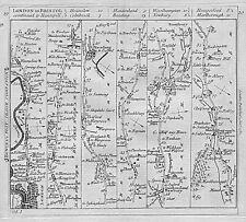 1782 London - Bristol Road Map Hounslow Maidenhead Reading Newbury Marlborough