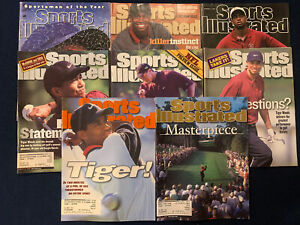 Sports Illustrated Tiger Woods Lot Of 8 1996-2001