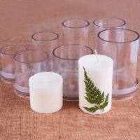 DIY Candle Mold Round Plastic Mould Candle Making Craft Cylinder Candle