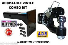 PINTLE HOOK COMBO 6 TONNE & PINTLE RECEIVER ARM HITCH  - TOW BAR TRAILER TOWING