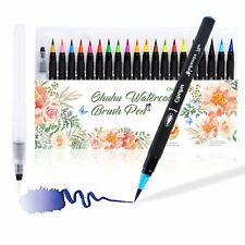 Ohuhu 20 Colors Watercolor Brush Markers Pen +A Water Coloring Brush Free Gift