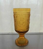 Brockway Glass Amber American Concord Sandwich 10 ounce Water Goblet