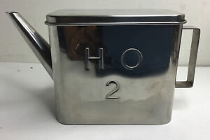 IKEA Mini Watering Can Heavy Stainless Steel 20612 Bookshelf Plant H2O Design