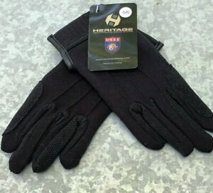 Heritage Cotton Grip Riding Gloves - Size  5 / 6 - Black Color