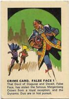 1966 Batman Weeties & Rice Krinkles Crime Card - False Face 1