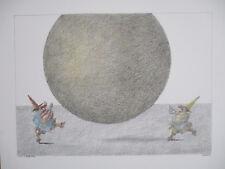 """PAUL FLORA  KUNSTDRUCK  2000 """" DER GELBE BALL  """""""