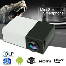 Multimedia Mini 1080P 3D Portable LCD LED Home Cinema Projector HDMI AV HD EU LN