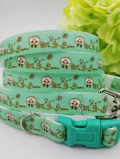 Jessiebee's sheep small dog collar & lead set cute bespoke handmade puppy