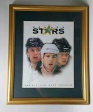 Signed Autographed #8 Framed Official Game Program Dallas Stars