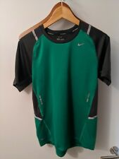 Nike Dri Fit Green Men's Medium Running Shirt Slim Fit