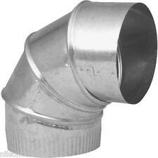 "Galvanized 7"" 24 Ga 90 Degree Furnace Stove Pipe Adjustable Elbow GV0298-C"