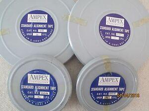 Vintage Set Ampex Standard Alignment Tape Test Reels 3-3/4,7-1/2,15,30 IPS - NEW
