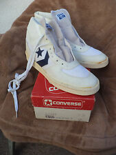VTG 84 LEATHER FABRIC PERSUADER  Hi CONVERSE NOS 1980's MADE IN USA  DS SZ 11.5